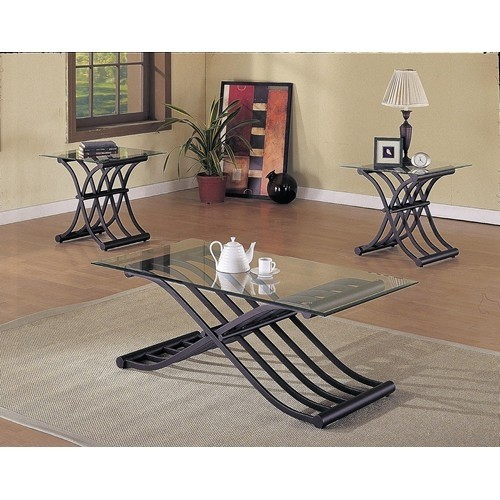 ACME, 3 PCS SET TABLES, 1COFFEE TABLE+2 END TABLES. 02708