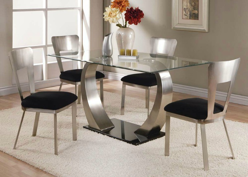 ACME, 5 PCS DINETTE SET SATIN PLATED, 10090, 10093