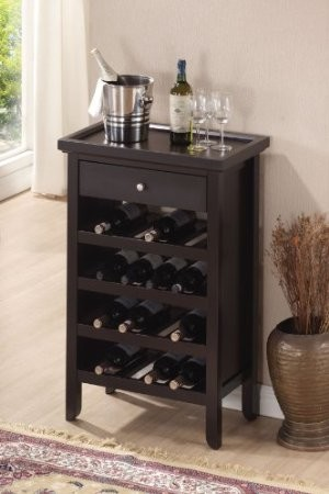 ACME, WINE RACK WENGE FINISH, 12242