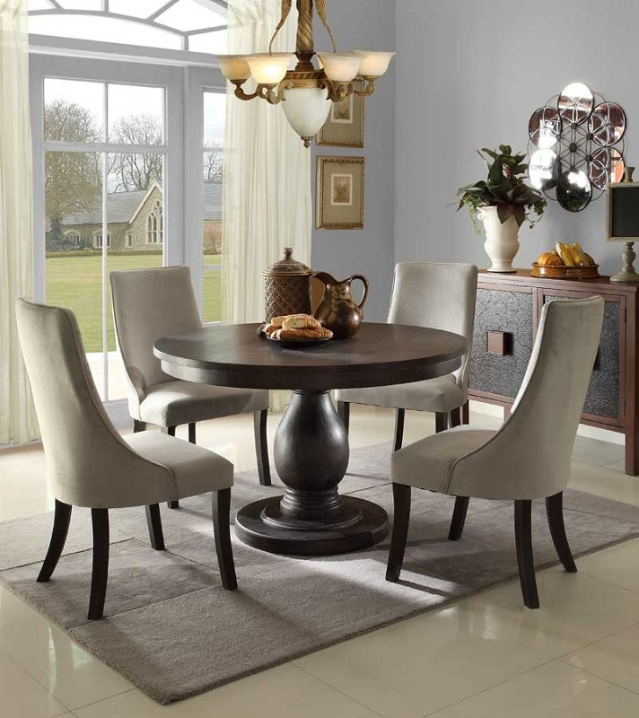 5 PCS DINETTE SET ROUND TABLE.