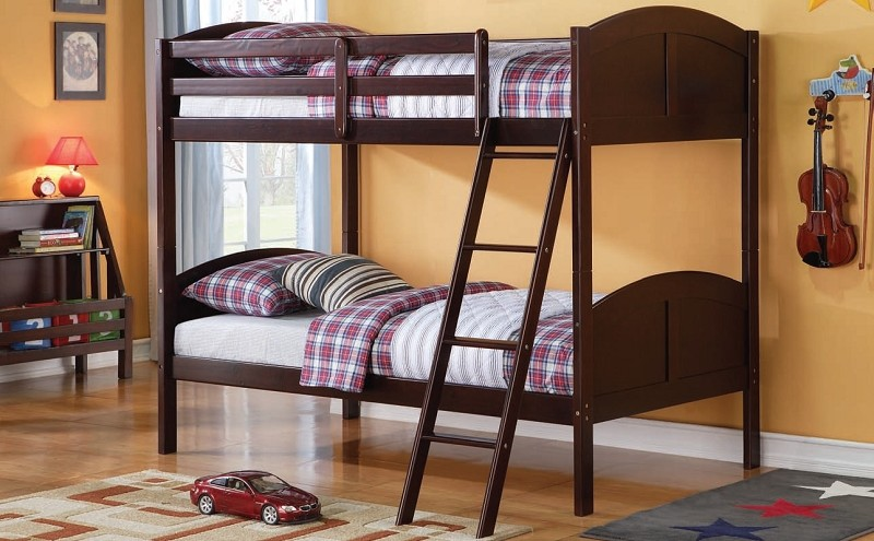 ACME, TWIN/TWIN BUNK BED ESPRESSO FINISH, AC-37010
