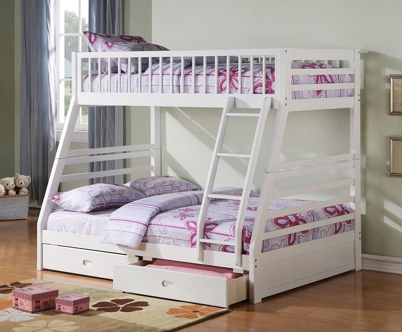 CALIFORNIA III TWIN FULL BUNKBED + 2 DRAWERS