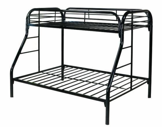 BELLA ESPRIT, TWIN/FULL METAL BUNK BED, 4502BK