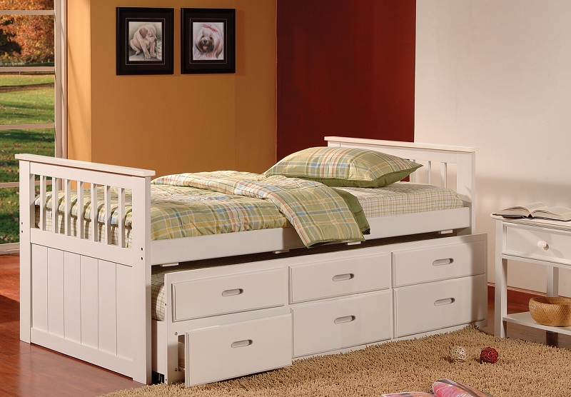 ASIA DIRECT CAPTAIN S BED TWIN BED TWIN TRUNDLE 3DRAWERS