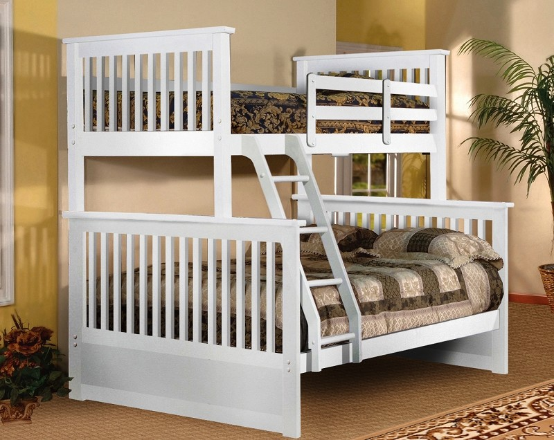 BELLA ESPRIT, TWIN/FULL BUNK BED WHITE FINISH, 45228WH