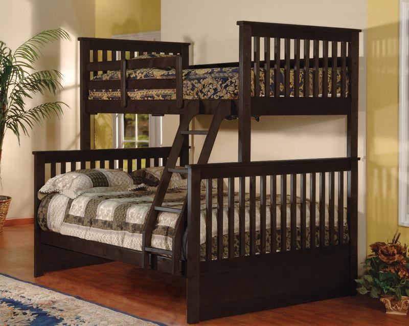 BELLA ESPRIT TWIN/FULL BUNK BED ESPRESSO FINISH, 45228A