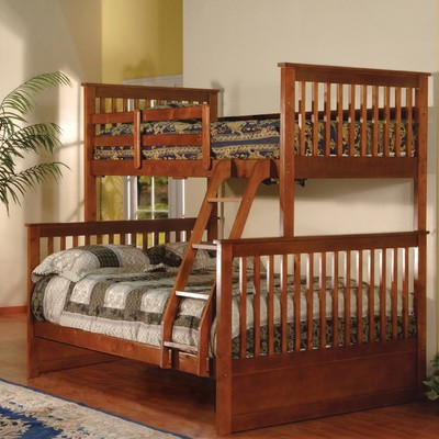 BELLA ESPRIT TWIN/FULL BUNK BED WALNUT, 45228B