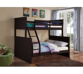 BELLA ESPRIT. TWIN/FULL BUNK BED EXPRESSO  FINISH, 45266EXP