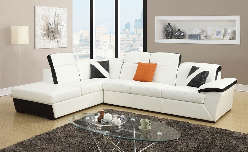 ACME SIENNA SECTIONAL SOFA WITH STORAGE CHAISE (PILLOWS NOT AVAILABLE), 51625