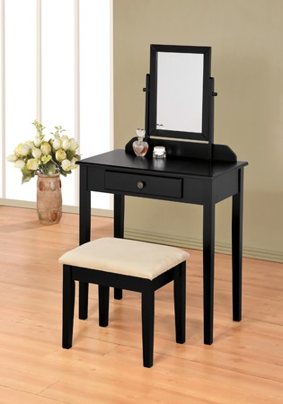 ASIA DIRECT, VANITY SET BLACK FINISH, 555BK