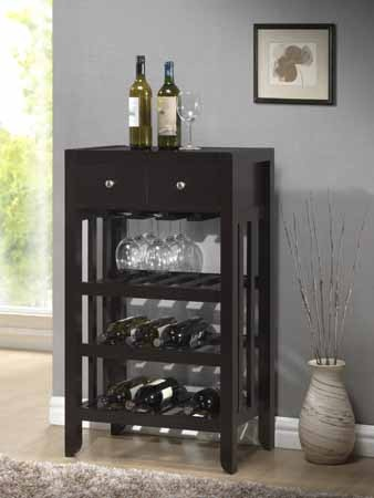 ASIA DIRECT, WINE RACK DARK ESPRESSO, 5722