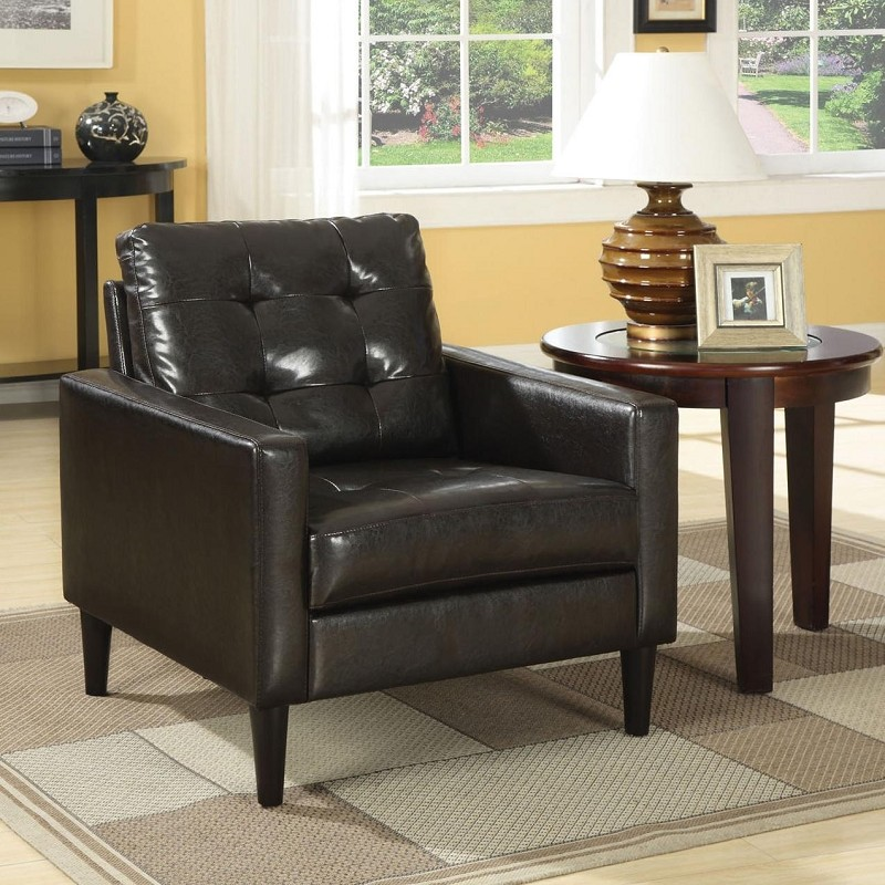 ACME, ACCENT CHAIR ESPRESSO PU, AC-59046