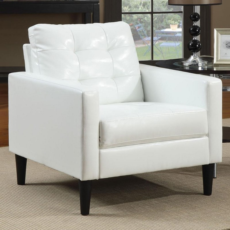 ACME, ACCENT CHAIR WHITE PU, AC-59048