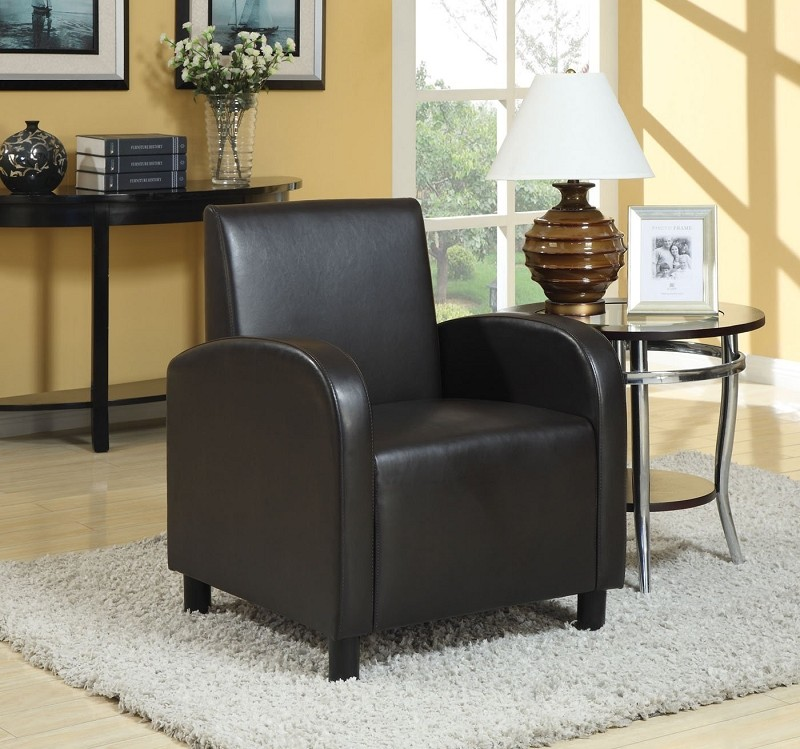ACME, ACCENT CHAIR BLACK PU, AC-59052