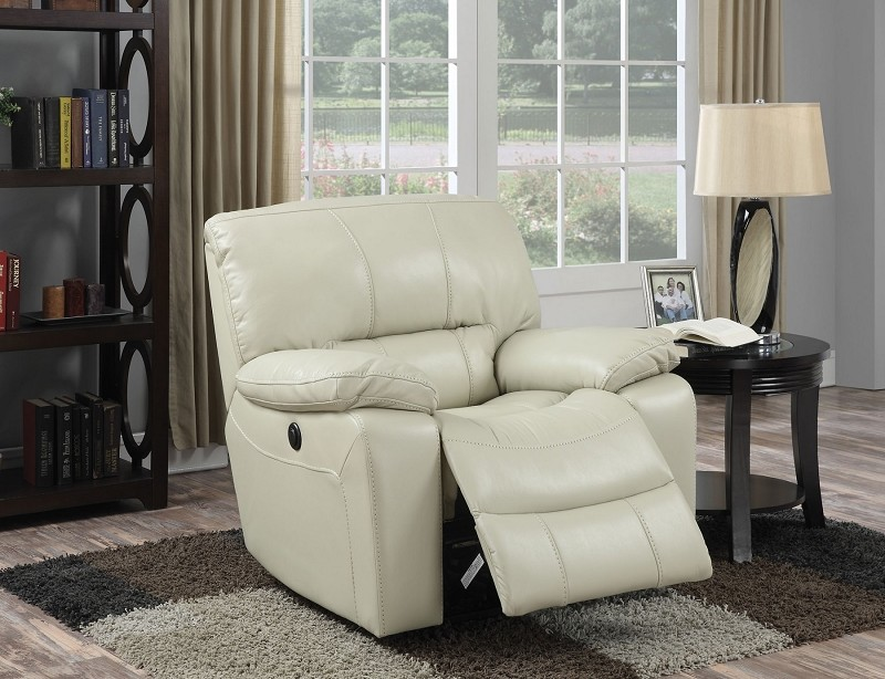 ACME POWER MOTION RECLINER, CREAM LEATHER-AIRE, 59342