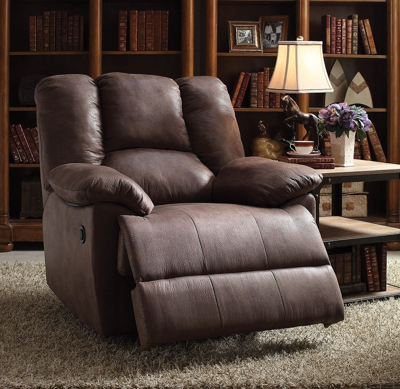 ACME POWER MOTION RECLINER, BROWN POLISHED MICROFIBER, 59422