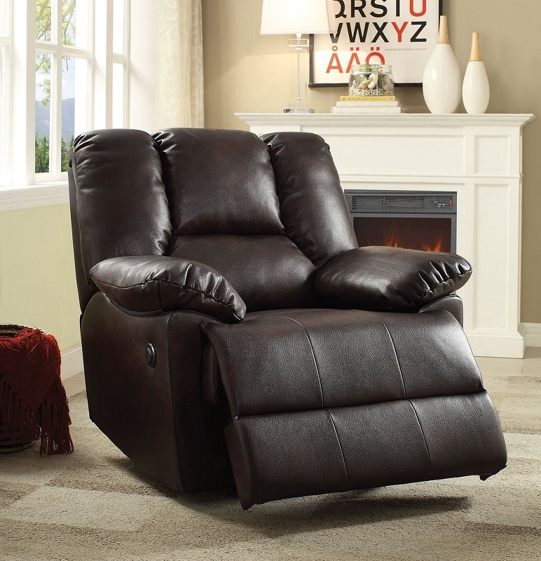 ACME POWER MOTION RECLINER  DARK BROWN, 59430