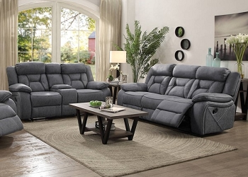 COASTER, 2 PCS SOFA SET GRAY, 602261, 602262