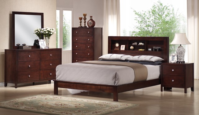 ASIA DIRECT, ALEX  BEDROOM SET QUEEN SIZE BED+DRESSER+MIRROR+1NIGHT STAND, 8050