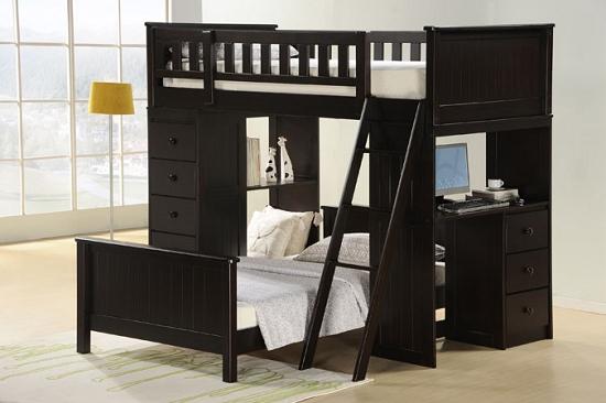 Asia Direct Twin Twin Loft Bed 810 Bk