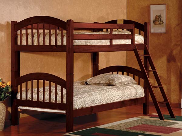 ASIA DIRECT, TWIN TWIN BUNK BED CHERRY, 831