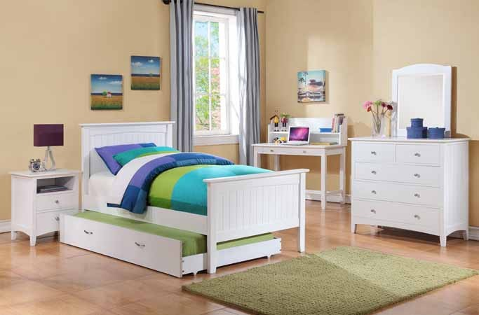 ASIA DIRECT, TWIN BED WHITE FINISH, 8412T