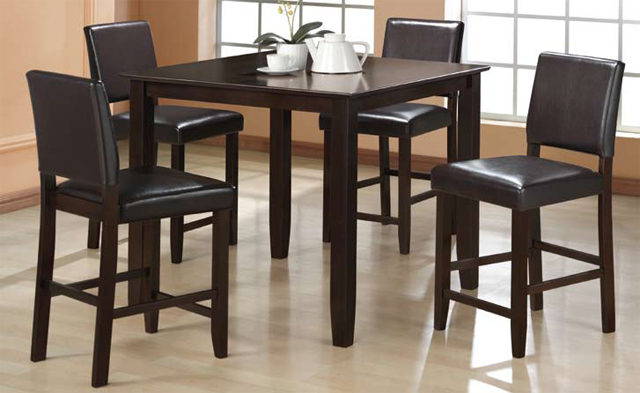 Asia Direct 5pcs Counter Height Table 4 Pub Chair 9073 9073c