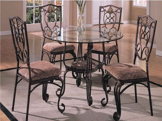 Asia Direct 5pc Dinette Set Table 4chairs 9119