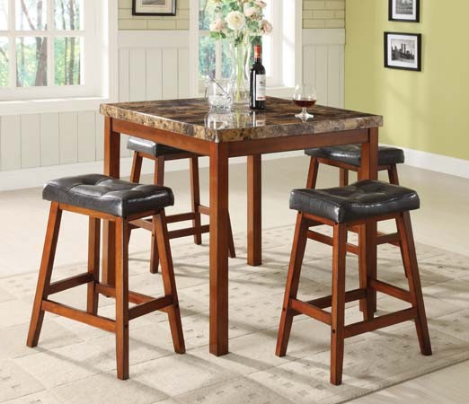 ASIA DIRECT 5 PC DINETTE SET, TABLE + 4 STOOLS, 9392