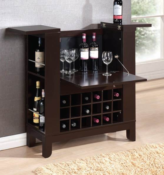 ACME, WINE RACK WENGE FINISH, 97010