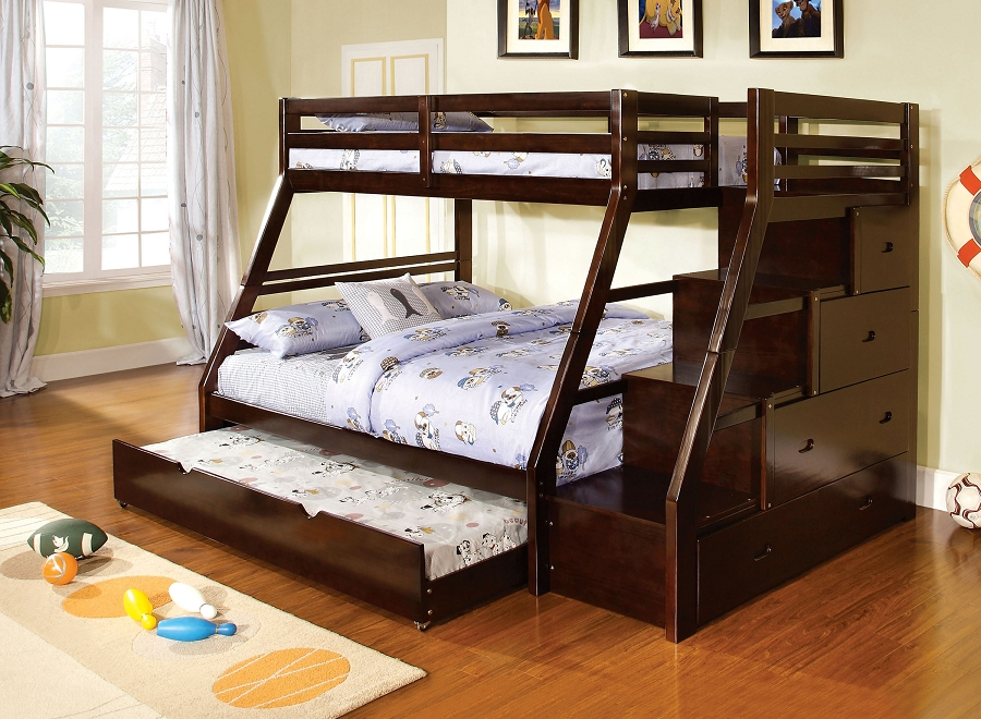 ELLINGTON TWIN/ FULL BUNK BED + 4 SIDE DRAWERS