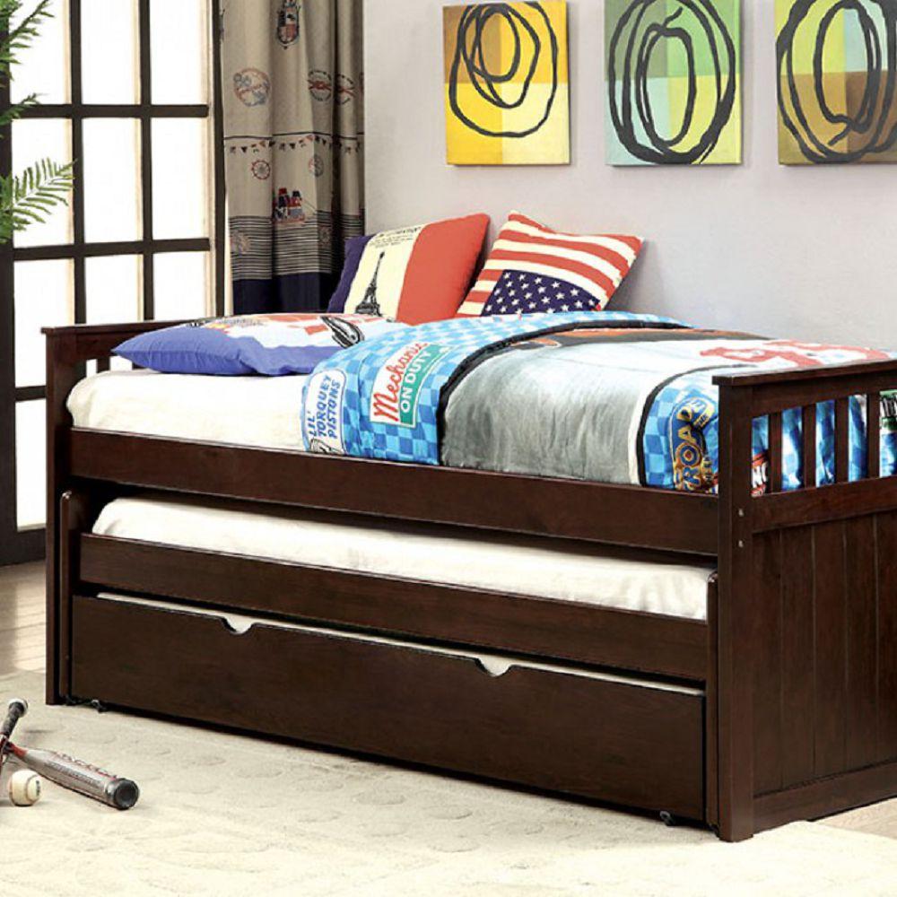 Furniture Of America Gartel Espresso Daybed W 3 Twin Beds