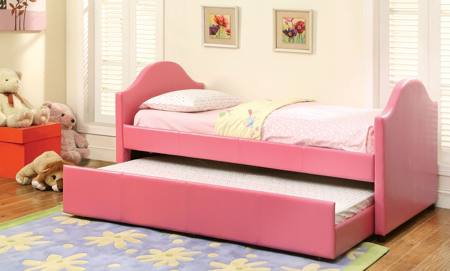 FU PINK DAYBED + TWIN TRUNDLE