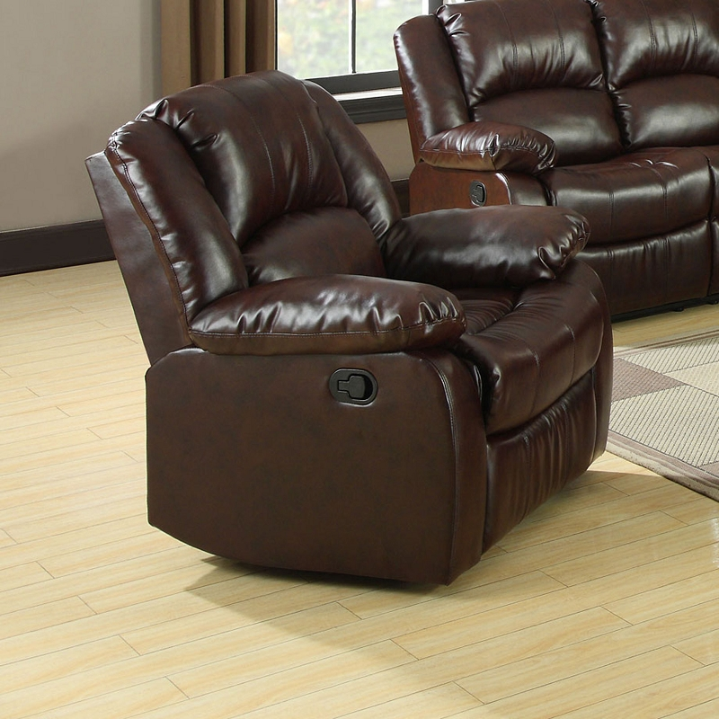 Furniture Of America 2 Pcs Sofa Set With 4 Recliners