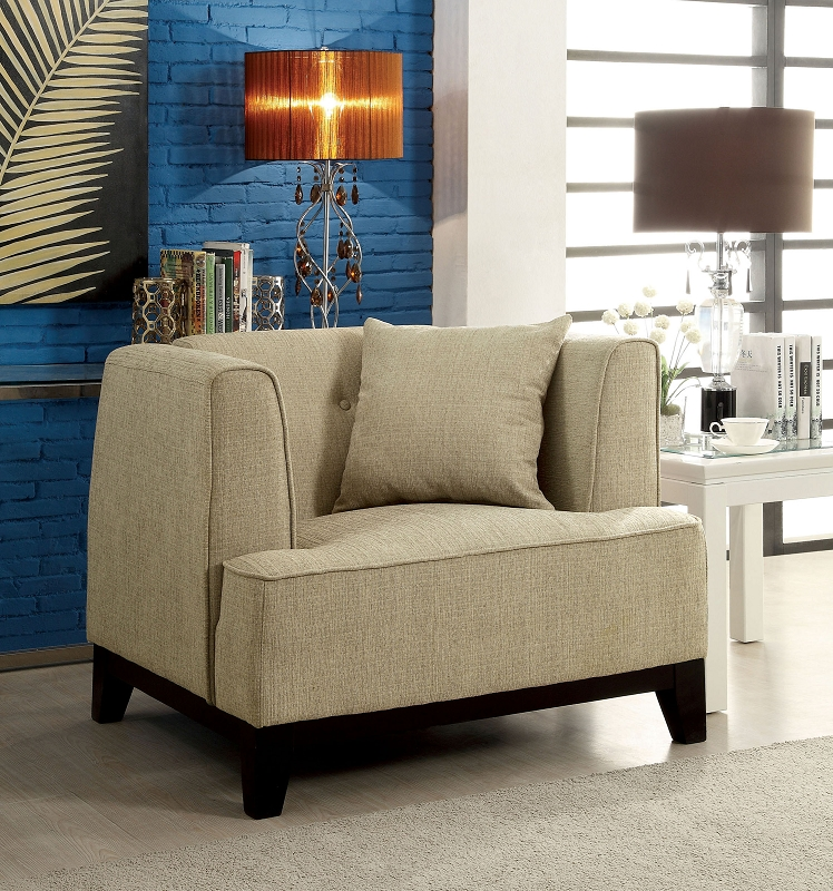 2 Pcs Sofa Set Beige Teal