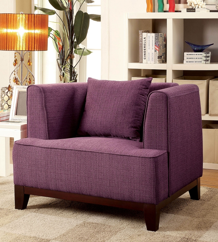 Furniture of america 2 pcs sofa set purple teal for Purple couch set