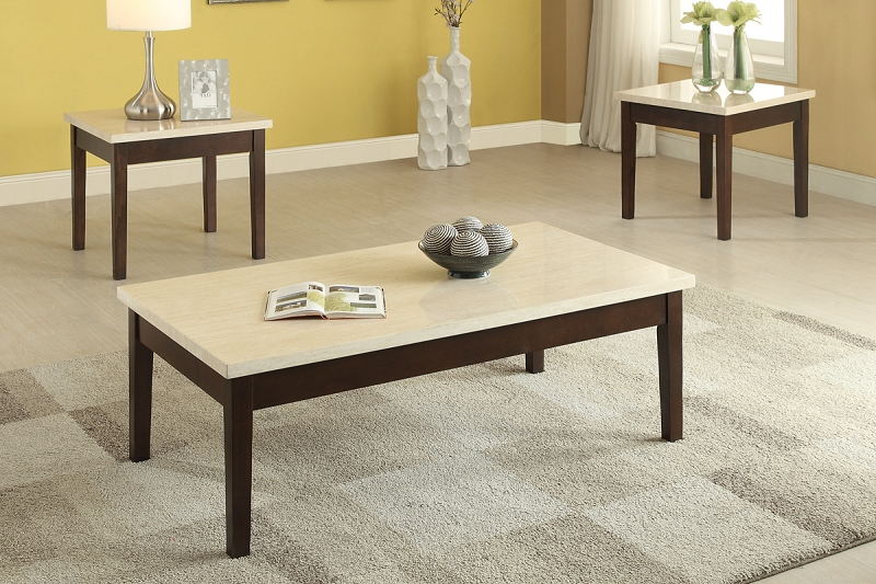 Poundex 3 Pcs Set Of Table F3126