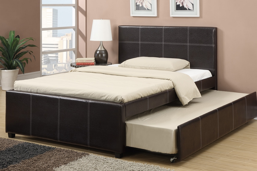 Poundex Full Bedtwin Trundle F9214f
