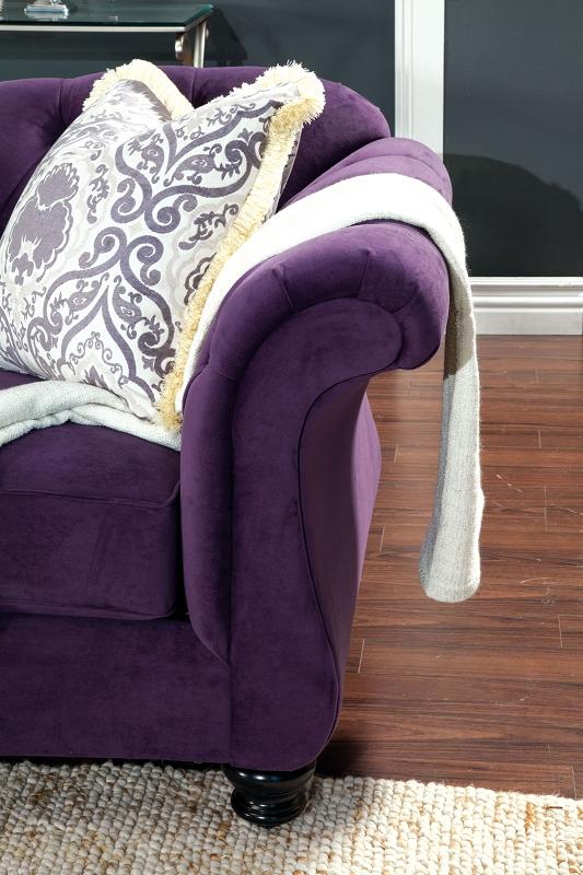 Furniture Of America 2 Pcs Sofa Set Purple Sm2222