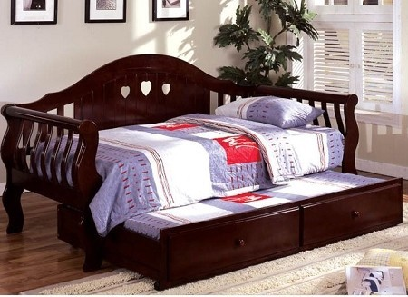 CHARLOTTE TWIN / TWIN  DAYBED CHERRY FINISH
