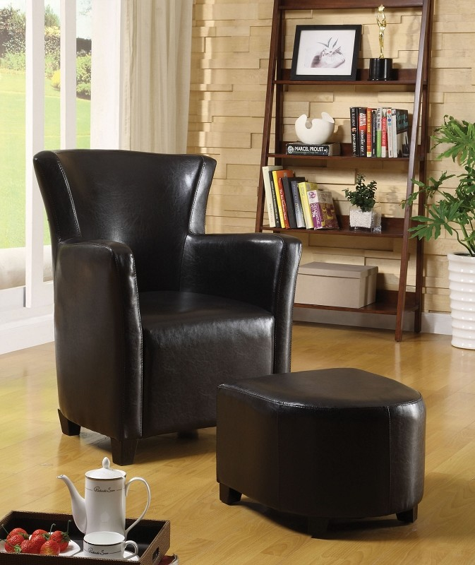 FURNITURE OF AMERICA, ACCENT CHAIR+OTTOMAN ESPRESSO, CM-AC6710EXP