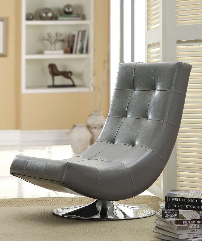 FURNITURE OF AMERICA, SWIVEL ACCENT CHAIR, CM-AC6912GY