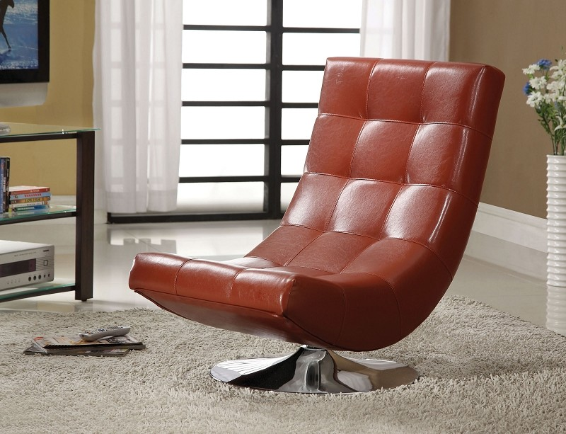 FURNITURE OF AMERICA, SWIVEL ACCENT CHAIR, CM-AC6912RD