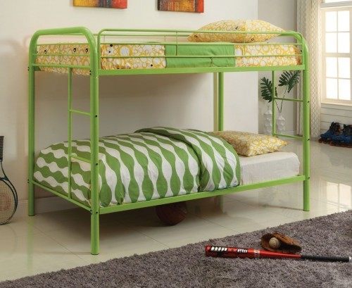 TWIN/TWIN METAL BUNK BED GREEN