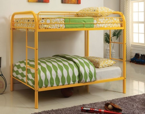 TWIN/TWIN METAL BUNK BED ORANGE