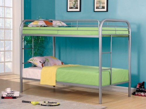 RAINBOW TWIN/TWIN METAL BUNK BED SILVER