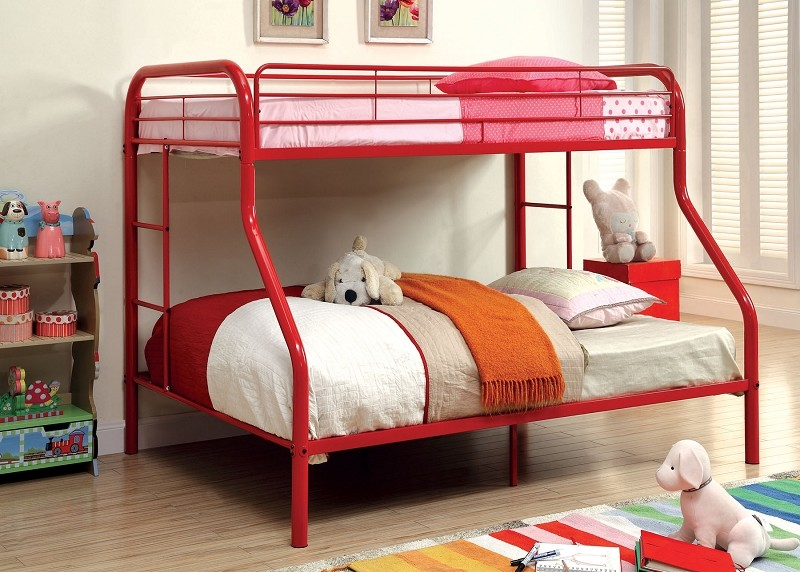 TWIN/FULL METAL BUNK BED
