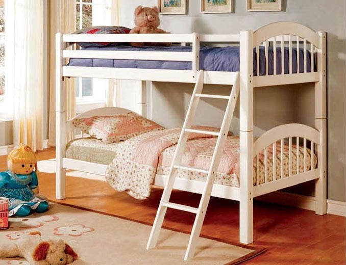 CONEY ISLAND TWIN TWIN BUNK BED WHITE