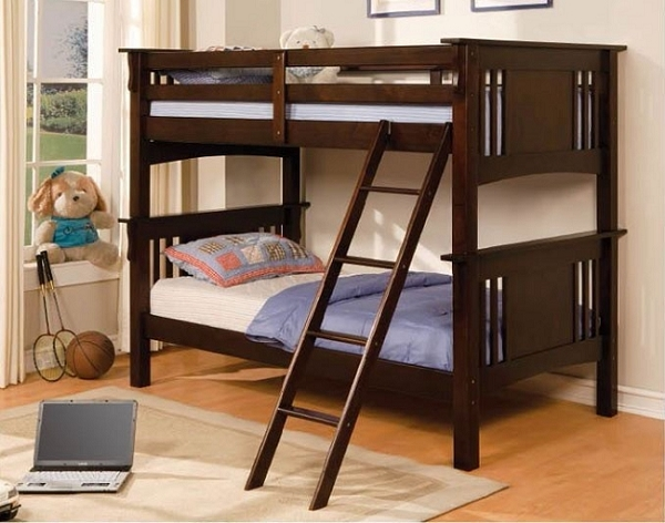 SPRING CREEK TWIN TWIN BUNK BED ESPRESSO
