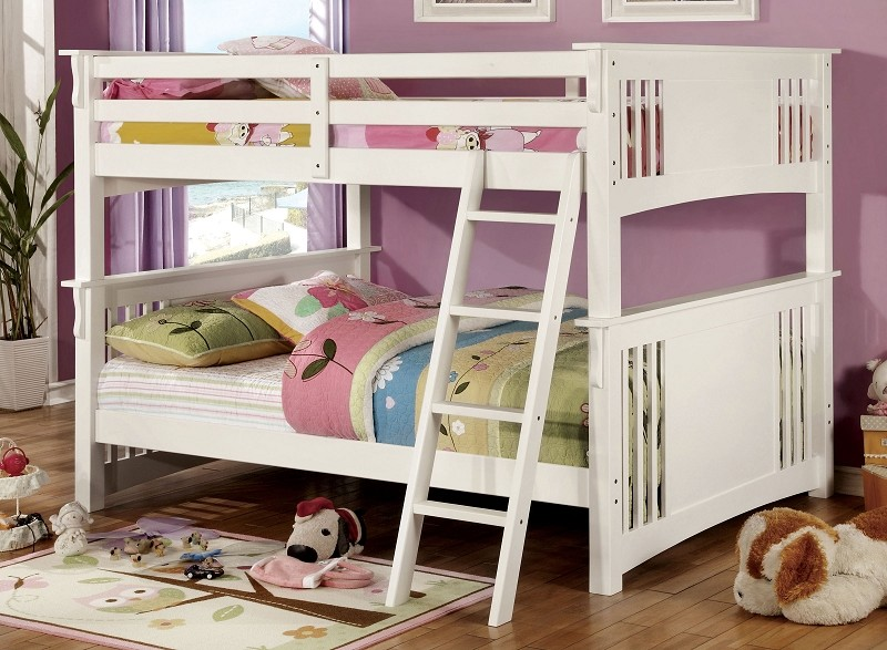 FULL/FULL BUNK BED WHITE